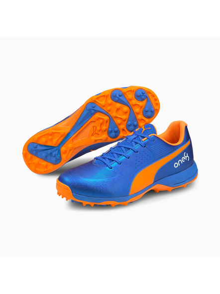 PUMA 105565 CRICKET SHOES-Orange / Blue-11-2