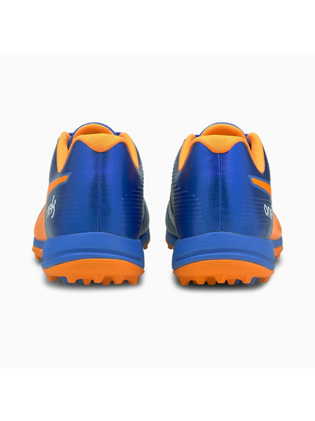 PUMA 105565 CRICKET SHOES-Orange / Blue-8-1