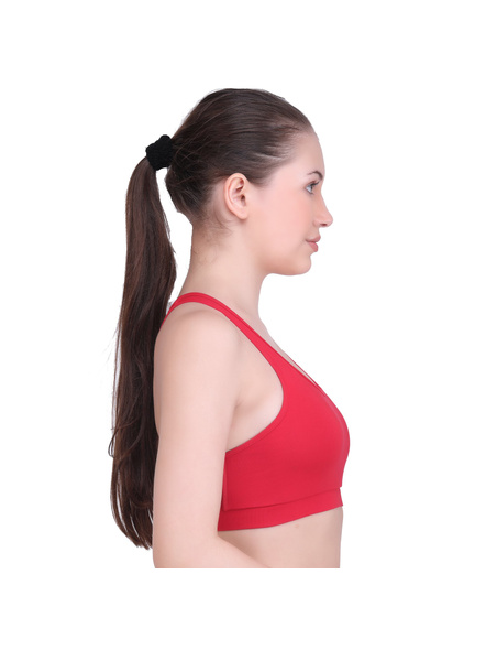 LAASA 1876 SPORTS BRA (Colour may vary)-M-Red -1