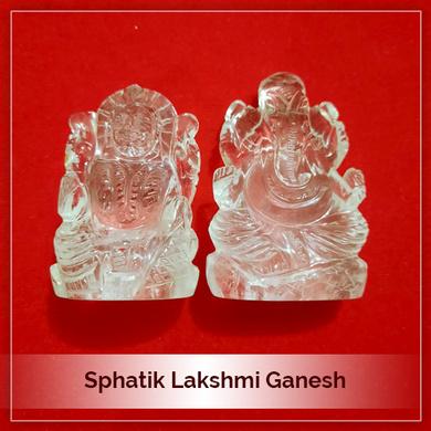 Sphatik Lakshmi Ganesh-165