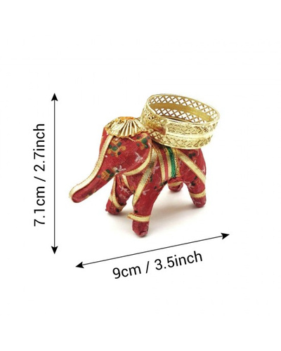 ELEPHANT SHAPE T-LIGHT CANDLE HOLDER - Coloured-2