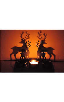 Reindeer Shadow Tea Light for Christmas Decor