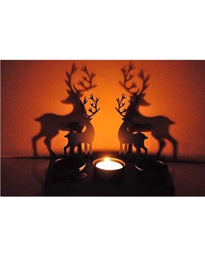 Reindeer Shadow Tea Light for Christmas Decor-RESDTL