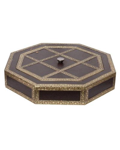 Beautiful  Golden Meenakari Dryfruit Box-1