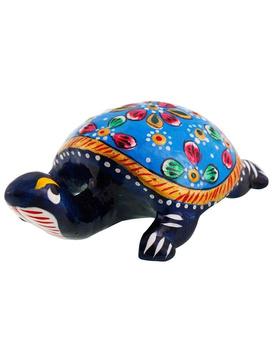 Pure Brass Tortoise Enamel Work Gift Handicraft