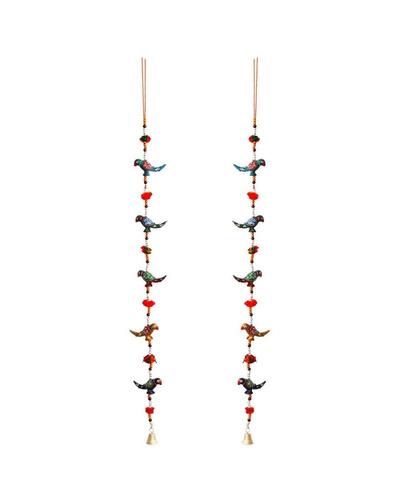 Rajasthani Parrot Door Hanging Pair Handicraft-TK01023