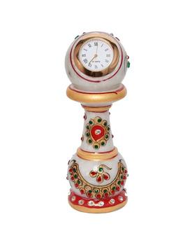 Design Marble Table Clock Handicraft