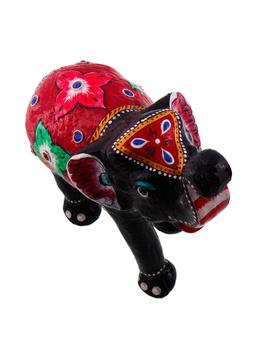 Paper Mache Elephant Showpiece Handicraft