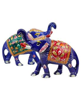 Brass Elephant Pair Handicraft