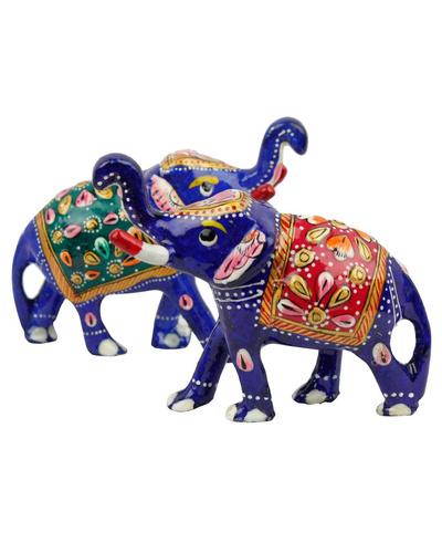 Brass Elephant Pair Handicraft-TK01003