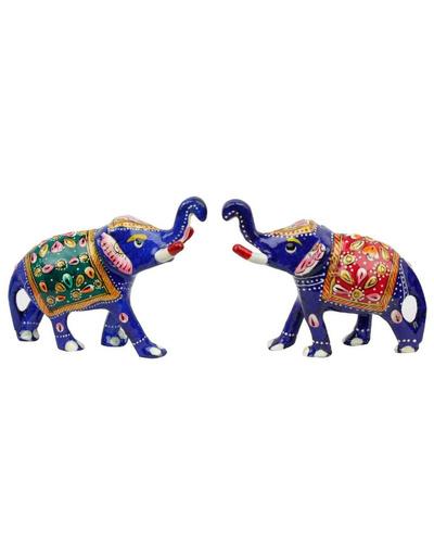 Brass Elephant Pair Handicraft-1