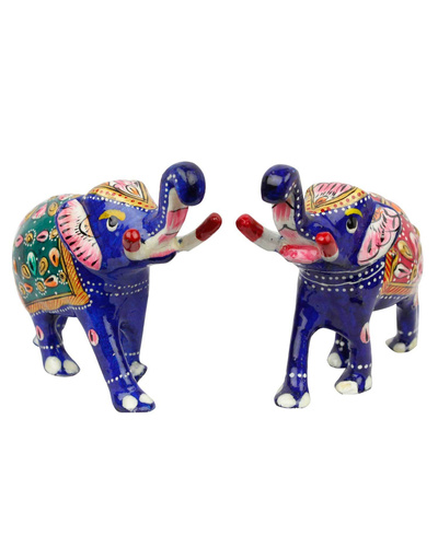 Brass Elephant Pair Handicraft-2