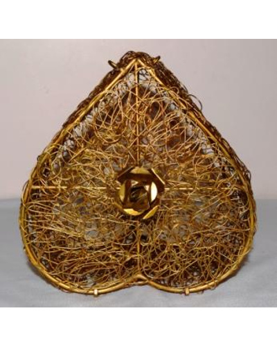 Golden Wired Multipurpose Gifting Box - Heart shaped-3