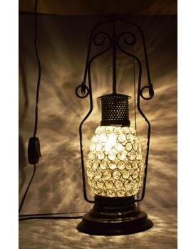 Crystal Electric Lantern with Aluminium Frame
