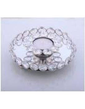 Crystal Diwali T-Light Candle Holders / Diya Plate