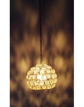 Hanging Crystal Tea Light Candle Holder