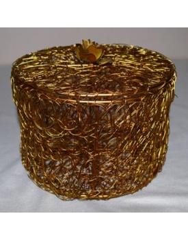 Golden Wired Multipurpose Gifting Box - Round