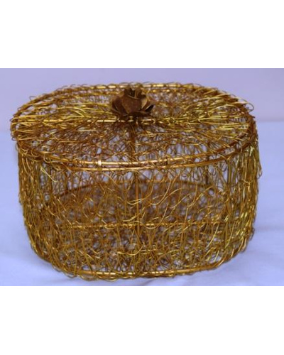 Golden Wired Multipurpose Gifting Box - Oval-1