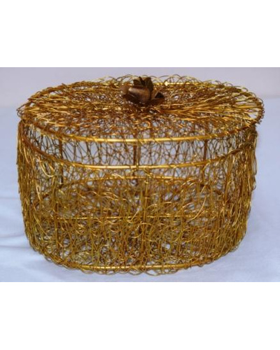 Golden Wired Multipurpose Gifting Box - Oval-4