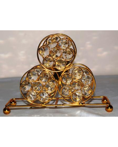 Crystal Napkin Holder- 3 circle-TK02045