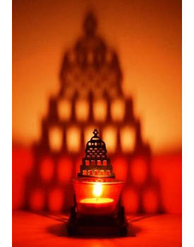 Temple Shadow Tea Light Ccandle Holder