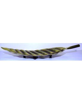 Tanhar Krafts Leaf Platter Tray in Antique Design