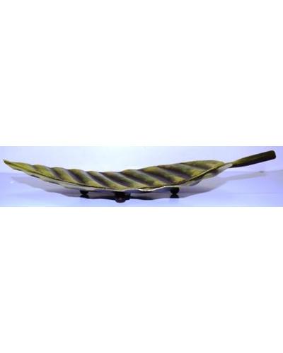 Tanhar Krafts Leaf Platter Tray in Antique Design-TK04007