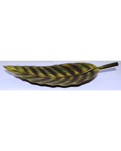 Tanhar Krafts Leaf Platter Tray in Antique Design-1