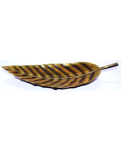 Tanhar Krafts Leaf Platter Tray in Antique Design-2