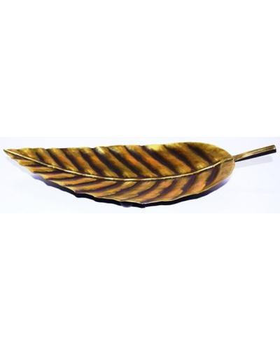 Tanhar Krafts Leaf Platter Tray in Antique Design-3