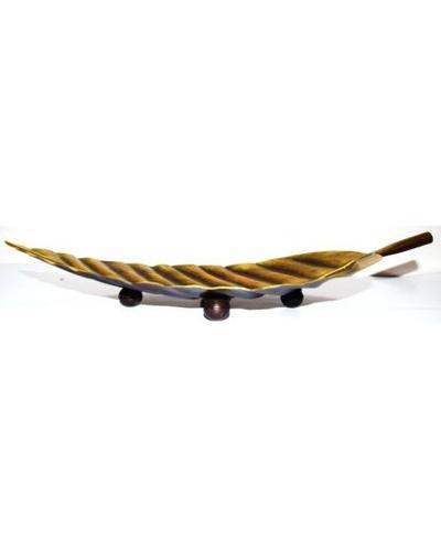 Tanhar Krafts Leaf Platter Tray in Antique Design-4