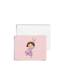 Pretty Pink Princess Cards with Envelopes (Set of 6)