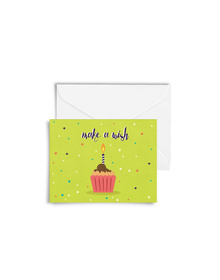 Make A Wish Cupcake Cards with Envelopes (Set of 6)