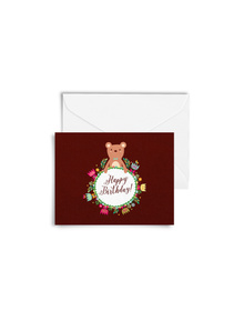 Happy Birthday - Bear Cards with Envelopes (Set of 6)