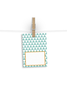 Turqoiuse and White Geometric Patterned Gift Tags