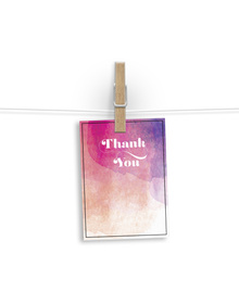 Water Colour Washed Thank You Tags