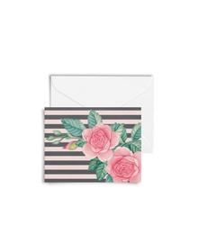 Vintage Roses Cards with Envelopes (Set of 6)