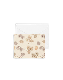 Pretty Pine Cones Cards with Envelopes (Set of 6)