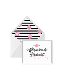 Will You Be My Bridesmaid? Cards with Envelopes (Set of 6)
