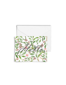 Floral Hello Cards with Envelopes (Set of 6)