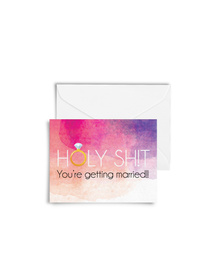 Holy Shit, You're Getting Married! Cards with Envelopes (Set of 6)