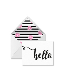Hello Cards with Envelopes (Set of 6)