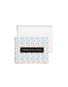Confetti -Congratulations Cards with Envelopes (Set of 6)