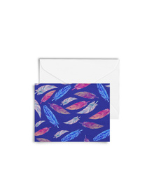 Pretty Feathers Cards with Envelopes (Set of 6)