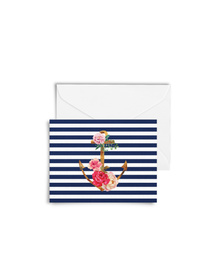 Floral Anchor Cards with Envelopes (Set of 6)