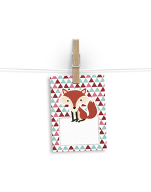 Fox & Triangles Gift tags