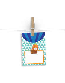 Lion In A Hot Air Balloon Gift tags
