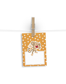 Happy Monkey Gift tags
