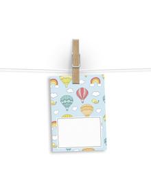Rainbows and Hot Air Balloon Gift Tags