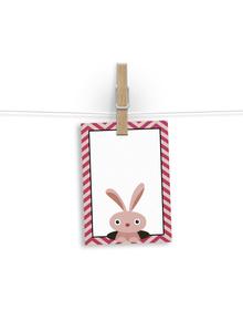 The Peek-A-Boo Rabbit Gift tags